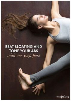 Feeling bloated? This one yoga pose will help you de bloat, and get a core workout in while you're at it. Womanista.com