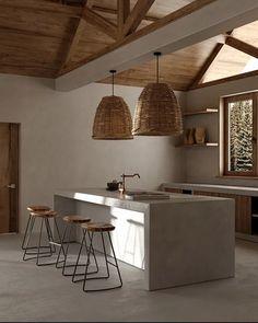 Golden Villa: Una casa de ensueño en California - Nomad Bubbles Wabi Sabi, Interior Architecture, Interior And Exterior, Casa Petra, Beton Design, Concrete Kitchen, Villa Design, Cuisines Design, Interior Design Inspiration