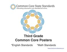 Third Grade Common Core Standards Posters - Common Core Standards | Common Core Activities, Worksheets, and Workbooks.
