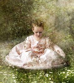 Girl in Garden by *kayceeus on deviantART