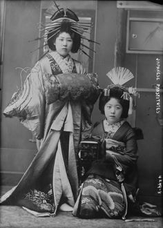 "1890s - Oiran (花魁) were courtesans in Japan. The Oiran were the highest class of courtesan or yūjo (遊女) ""woman of pleasure"" in the Yoshiwara pleasure quarters in Edo. S)"