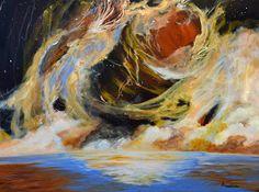 "Original Contemporary Seascape Painting ""Precise Mapped Disbursement"" by Contemporary International Artist Arrachme"