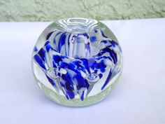 Vintage Glass Paperweight Kerry Zimmerman Collectible Glass Paperweight Gift Idea by WhatnotsAndFancifuls on Etsy https://www.etsy.com/listing/487341315/vintage-glass-paperweight-kerry
