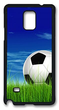 DIY Hard Shell Black Best Personality Samsung Galaxy Note 4 Case Soccer Ball On The Grass lovely case http://www.amazon.com/dp/B00QHWV7BG/ref=cm_sw_r_pi_dp_yC3Kub0YRQHCB