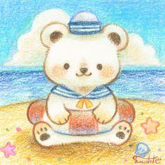 Kawaii Chibi, Kawaii Art, Cute Chibi, Art Drawings For Kids, Animal Drawings, Pretty Art, Cute Art, Kawaii Illustration, Cute Kawaii Drawings