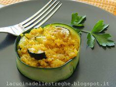 La cucina delle streghe: Quinoa con zucchine, zenzero e zafferano