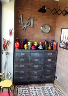 Industrial drawers and colour