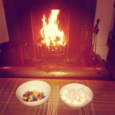 Marshmallows on the fire...just add Baileys