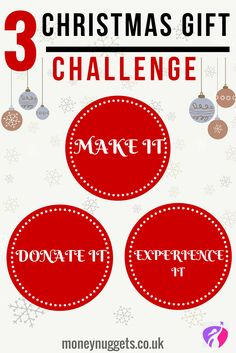 3 Christmas gift challenge for you. Why not do something it differently this Christmas and save yourself some cash with these alternative gift ideas.