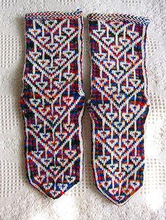 Turkish socks - Kurdish pattern by Mairi McK, via Flickr