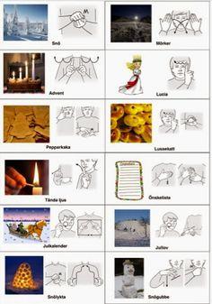Jul-arkiv - Sida 2 av 3 - Tecken som stöd - Toppbloggare på Womsa Kids Barn, Learn Swedish, Swedish Language, Mini Craft, Games For Kids, Children Games, Kids Corner, Sign Language, Social Work