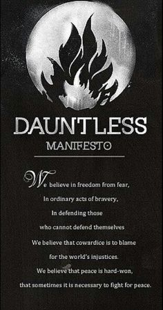 Dauntless Manifesto for movie... WHAT? This is horrible. Veronica wrote the manifestos and published them in the book, and thus is not accurate. I understand they need to change some, but for some of us the manifestos are more that something from a book.