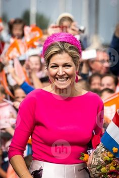 29 June 2017 - King Willem-Alexander and Queen Maxima visit Noord-Oost Flevoland Region - skirt by Nathan