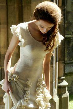 Knit wedding dress beautiful <3