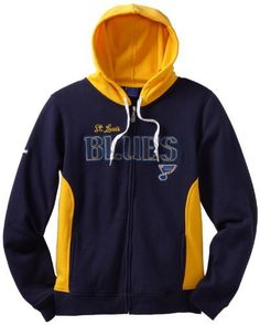 NHL St. Louis Blues Full Zip Hoodie, X-Large by Reebok. $36.23. Reebok St. Louis Blues Ladies Core Full Zip Hoodie - Navy Blue/GoldTwill applique letteringFull zip hoodieTwo front pocketsQuality embroideryElastic cuffs and waistImportedHood with drawstringOfficially licensed NHL product60% Cotton/40% Polyester60% Cotton/40% PolyesterOfficially licensed NHL productHood with drawstringFull zip hoodieTwill applique letteringQuality embroideryTwo front pocketsElastic cuff...