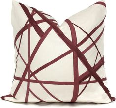 Etsy Plum Channels Pillow Cover by Groundworks,   #decor Square, Euro or Lumbar Pillow, Throw Pillow, Accent Pill