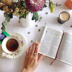 Sunday Bible reading. jotd-rosegold pearl ring by silverstella