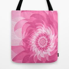 Tote #bag on #Society6 with design by Natalia Bykova. #pink, #flower, #fractal, #totebag, #print, #art, #accessories