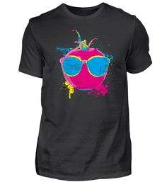 Pop Art Tomate ➢ Neon Farben Tomate T-Shirt Pop Art, Neon, Mens Tops, Color, Spiders, Back Stitch, Colors, Cotton, Art Pop