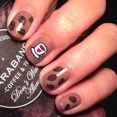 Coffee nail art is apparently a thing and we love it