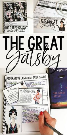 The Great Gatsby Interactive Notebook | Grades 7-12 | Comprehensive Unit