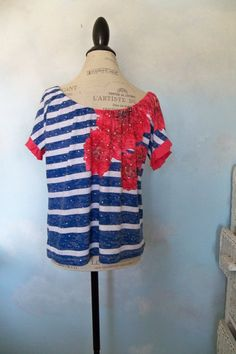 Off the shoulder top M to XL  bardot top by CalCoastCreations