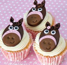 Horse cupcakes..farm animal birthday party
