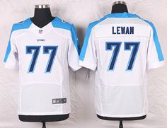White Taylor Lewan Men's Elite Tennessee Titans #77 Road NFL Jersey