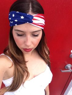 American Flag Turban by LoveSewsTogether on Etsy, $10.00