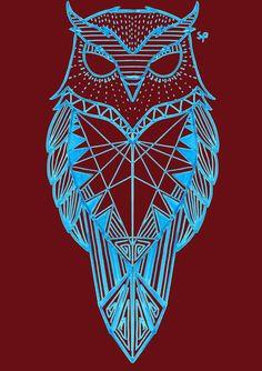 Geometric Owl by Tattoo Flash Sheet, Tattoo Flash Art, Nature Tattoos, Body Art Tattoos, Owl Tattoo Design, Tattoo Owl, Owl Tattoos, Geometric Owl Tattoo, Shin Tattoo