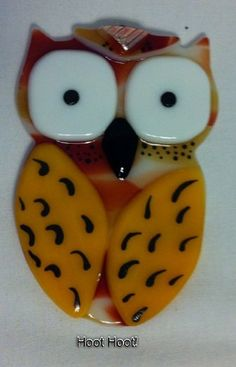 Glass Fused Owl by RemarkableTouch on Etsy, $12.00