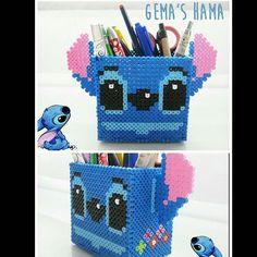 Stitch pencil holder hama beads by gemashama
