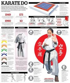 Karate Infographic (spanish)