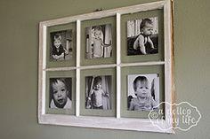 DIY Antique Window Picture Frame | BlogHer