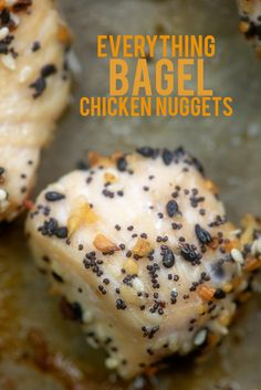 Everything Bagel chicken nuggets are a total hit with my kids! Low carb and keto friendly! (THM - S) Low Carb Chicken Recipes, Keto Chicken, Low Carb Recipes, Cooking Recipes, Healthy Recipes, Recipe For Onion Pie, Bagel Recipe, Pollo Keto, Homemade Chicken Nuggets