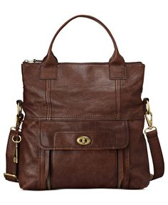 Fossil Handbag, Stanton Leather Tote - Fossil - Handbags & Accessories - Macy's
