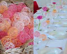 * Table Decorations, Balls, Diy, Furniture, Home Decor, Do It Yourself, Homemade Home Decor, Bricolage, Home Furnishings