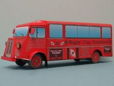 Citroën HY Rugby Club Toulonnais Free Vehicle Paper Model Download - http://www.papercraftsquare.com/citroen-hy-rugby-club-toulonnais-free-vehicle-paper-model-download.html#150, #Citroen, #CitroënHY, #HY, #VehiclePaperModel