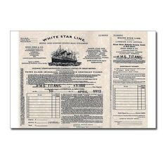 Titanic boarding pass printable google search titanic shop of unique postcard designs find personalized custom postcards to send to friends family pronofoot35fo Images