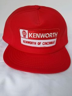 Kenworth Cincinnati Ball Cap Trucker Semi Truck 18 Wheeler Foam 5 Panel.  eBay. Red and White ... 899aeda7a