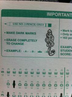 make dark marks. hahaha