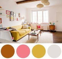 Para os mais jovens ou pra quem gosta de um ambiente bem colorido, o amarelo é sempre uma ótima escolha. Olha como essa combinação de várias cores ficou linda mas sem ficar confusa. O amarelo está como o ponto central, mas grande parte da decoração está com uma cor neutra pra equilibrar.