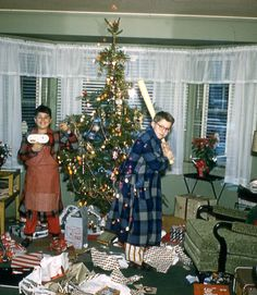 Christmas morning. Could be Phil and JP.