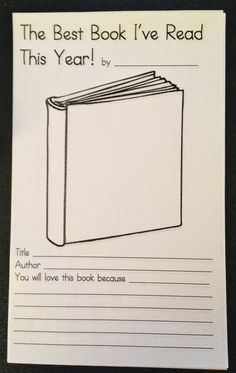 End of Year Favorite Book Activity- maybe for memory books?
