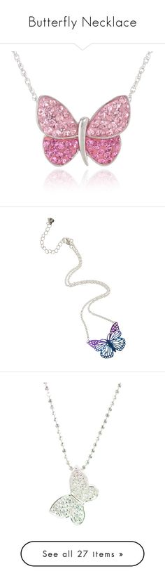 """Butterfly Necklace"" by maxinehearts ❤ liked on Polyvore featuring jewelry, necklaces, accessories, sterling silver crystal necklace, crystal jewelry, butterfly pendant necklace, crystal necklace, butterfly jewelry, butterfly necklace and purple necklace"
