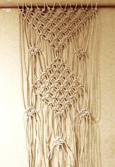 I test out Pinterest DIY Pins! Check out my video on making a macrame curtain on Youtube!