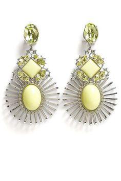 Anton Heunis Wire Setting Crystal Cluster Earrings, $165; my-wardrobe.com