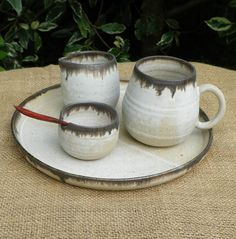 Tea set for one by CaractacusPots on Etsy, £29.99