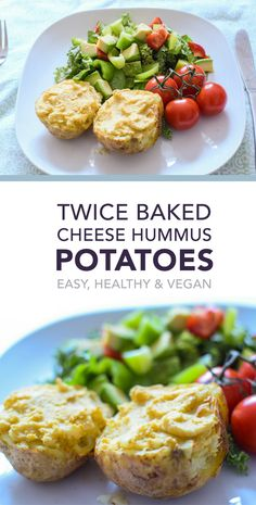 Easy, healthy (and vegan!) dinner recipe that can be scaled up or down depending on how many you're feeding. Twice baked for a velvety smooth inside, crispy, savoury skin and still requires minimal effort.