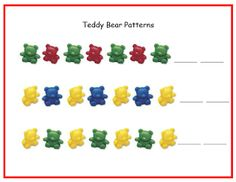 teddy bear math worksheet | am almost at 200 followers and I am thinking about doing a giveaway ...